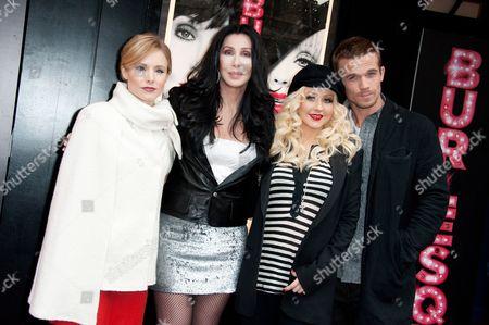 Kristen Bell, Cher, Christina Aguilera, Cam Gigandet and Steve Antin