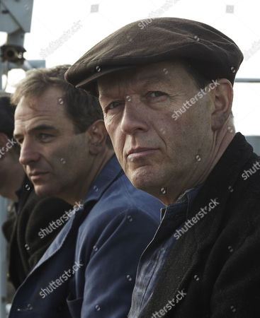 Pictured: Robson Green as Harry Crawford, Kevin Whately as Joe Maddison and Trevor Fox as Eddie Turnbull.