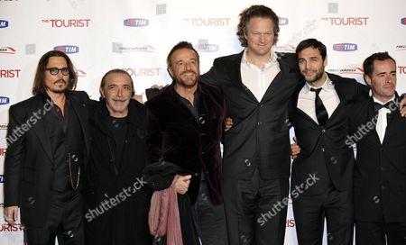 Johnny Depp, Nino Frassica, Christian De Sica, Florian Henckel Von Donnersmarck, Daniele Pecci, Giovanni Guidelli