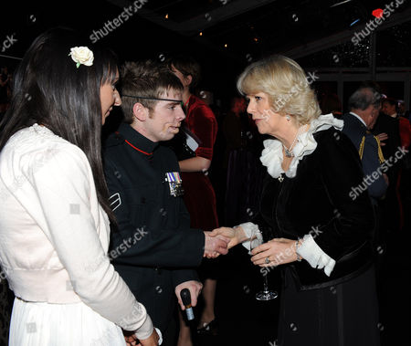 Camilla, Camilla Duchess of Cornwall with Ricky Furgusson and partner Michelle Dodd