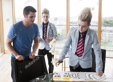 Liam Mckenna with Jedward [John and Edward Grimes] s
