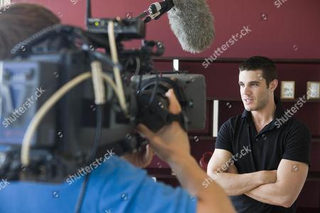 Behind the scenes shot of Liam McKenna