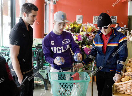 Liam Mckenna goes shopping with Jedward [John and Edward Grimes] s