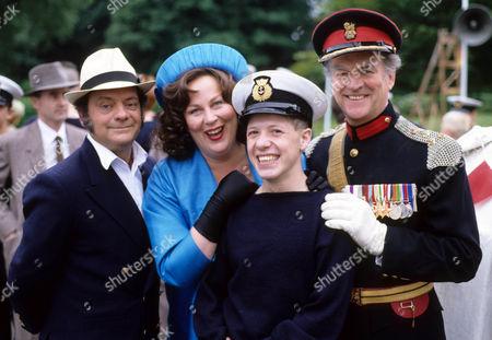 David Jason as Pop Larkin, Pam Ferris as Ma, Ian Tucker as Montgomery and Moray Watson as Brigadier