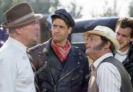 Moray Watson as Brigadier, Saul Jephcott as Nelly and David Jason as Pop Larkin