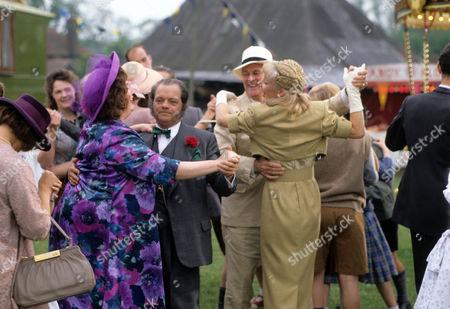 Pam Ferris as Ma, David Jason as Pop Larkin, Kika Mirylees as Angela Snow and Moray Watson as Brigadier