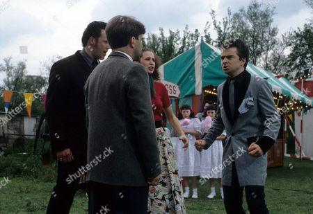 Raymond Trickett as Brian, Tyler Butterworth as Reverend Candy and Nick Raggett as Dennis