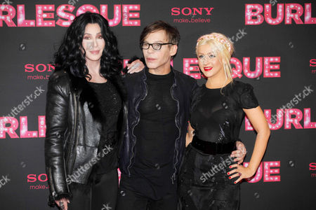Cher, Steve Antin and Christina Aguilera