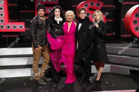 Cam Gigandet, Cher, Christina Aguilera. Steve Antin and Kristen Bell