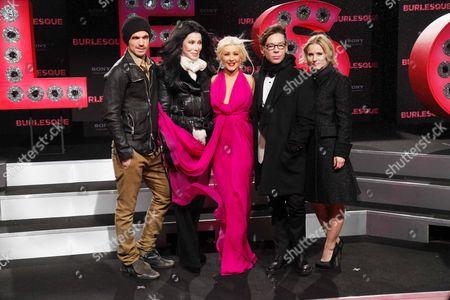 Cam Gigandet, Christina Aguilera, Cher, Steve Antin and Kristen Bell
