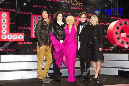 Cam Gigandet, Cher, Christina Aguilera, Steve Antin and Kristen Bell
