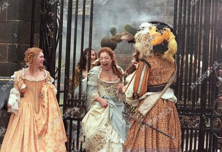 l Alex Kingston as Moll Flanders and Christopher Fulford as Daniel Dawkins on their wedding day