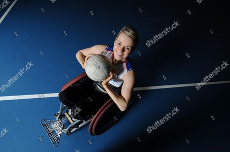 Editorial photo of Josie Pearson In Her Rugby Chair At The Football Academy For The Blind In Hereford. Josie Pearson Does Not Look Like She Can Push Shove And Block With The Best Of Them On The Rugby Field. But In The Rough And Often Tumble Sport Of Wheelchair Rugby Wh