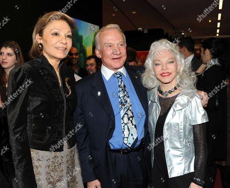 Farah Diba Pahlavi, Buzz Aldrin and wife Lois Driggs Cannon