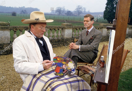Stock Image of Robert Hardy as Winston Churchill and Anthony Andrews as David Windsor, Prince of Wales