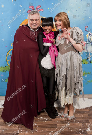 Eamonn Holmes, Samanthi and Ruth Langsford.
