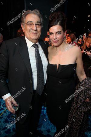 Stock Image of Placido Domingo and Natalia Ushakova