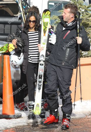 Stock Picture of Zoe Saldana and Keith Britton