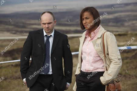 Epoisode: 'AfterMath' Pictured: Lorraine Burroughs as Winsome Jackman and Jack Deam as Ken Blackstone on the Moors at the Burial Site of the Final Body