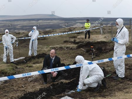Episode: 'Aftermath' Pictured: Jack Deam as Ken Blackstone on the Moors at the Burial Site of the Final Body