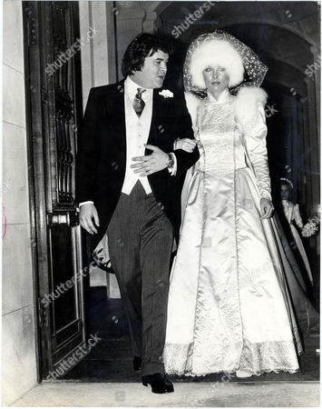 Hon John Hesketh (johnny Hesketh) Younger Brother Of 3rd Baron Hesketh Pictured On His Wedding Day To Anne Wallace The Girl Once Tipped To Marry Prince Charles. The Brides Dress Was Designed By Bill Gibb Her Fox Hat Was Designed By David Shilling. The Couple Later Divorced.