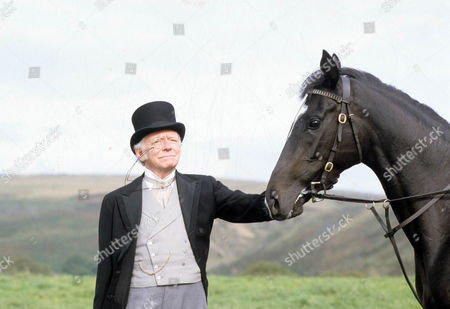 Stock Photo of Silver Blaze Picture shows - Peter Barkworth as Colonel Ross with Silver Blaze