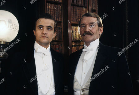 The Empty House Picture shows - Paul Lacoux as The Hon. Ronald Adair and Patrick Allen as Colonel Sebastian Moran