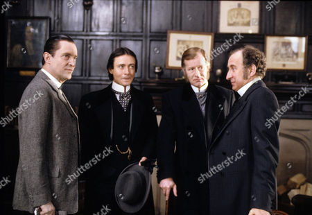 The Priory School Picture shows - Jeremy Brett as Sherlock Holmes, Nicholas Gecks as James Wilder, Alan Howard as The Duke of Holdernesse and Christopher Benjamin as Dr Huxtable