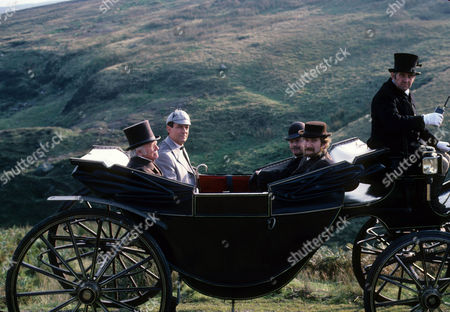Silver Blaze Picture shows - Peter Barkworth as Colonel Ross, Jeremy Brett as Sherlock Holmes, Edward Hardwicke as Dr Watson and Malcolm Storry as Inspector Gregory