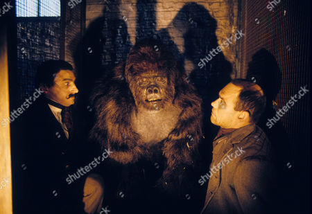The Creeping Man Picture shows - Steve Swinscoe as Jenkins and Peter Guinness as Wilcox and Peter Elliott as the Great Ape