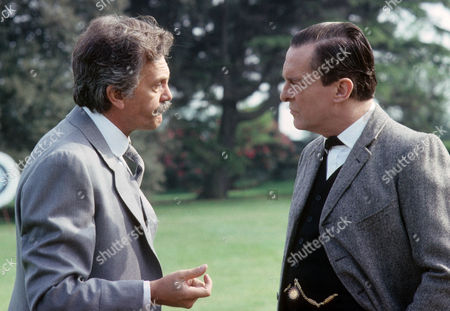 The Problem of Thor Bridge Picture shows - Daniel Massey as J. Neil Gibson and Jeremy Brett as Sherlock Holmes