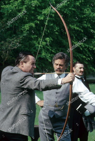 The Problem of Thor Bridge Picture shows - Jeremy Brett as Sherlock Holmes and Daniel Massey as J. Neil Gibson