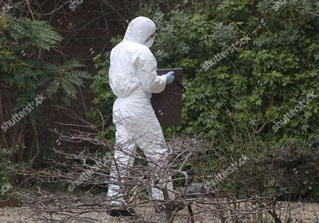 Police forensics at the home of Joanna Yeates