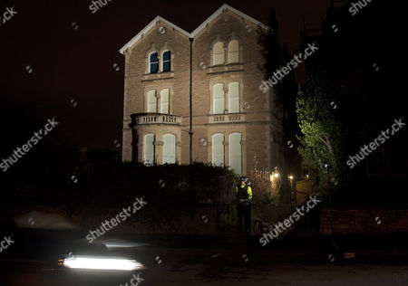 Police at the home of Joanna Yeates