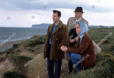 Episode 10 - It's All in the Game Picture shows - Nick Berry as PC Nick Rowan, John Woodvine as Frank Armstrong and Clara Salaman as Jill Criddle