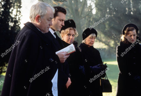 Episode 3 - Thief in the Night Picture shows - The funeral of Kate Rowan - Alan Rothwell as the Vicar, Nick Berry as PC Nick Rowan, Diane Langton as Ruby Rowan, Anne Stallybrass as Eileen Reynolds (Kate's mum) and Kazia Pelka as Maggie Bolton