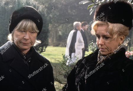 Episode 3 - Thief in the Night Picture shows - The funeral of Kate Rowan - Anne Stallybrass as Eileen Reynolds (Kate's mum) and Diane Langton as Ruby Rowan