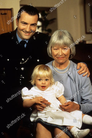 Episode  9 - Catch us if you Can Katie, daughter of PC Rowan, with Nick Berry as PC Rowan and Anne Stallybrass as grandmother Eileen Reynolds