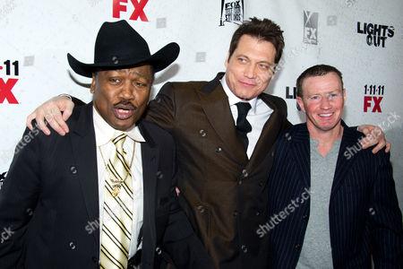 Joe Frazier, Holt McCallany and Micky Ward