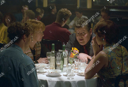 Robbie Coltrane as Dr. Eddie Fitz Fitzgerald, Barbara Flynn as Judith with Peter Faulkner as Mike and Kathy Jamieson as Jo
