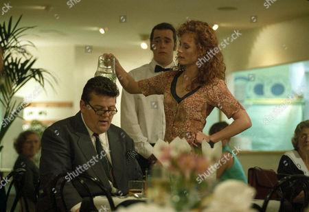 Robbie Coltrane as Dr Eddie Fitz Fitzgerald and Geraldine Somerville as DS Jane Penhaligon