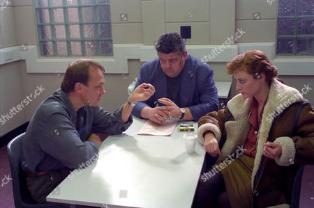 Christopher Fulford as Cassidy, Robbie Coltrane as Dr Eddie Fitz Fitzgerald and Geraldine Somerville as DS Jane Penhaligon