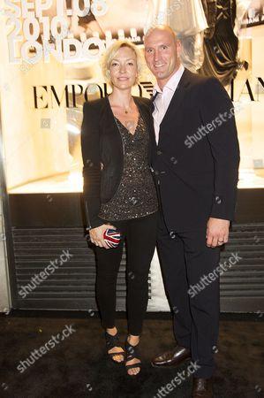 Stock Picture of Alice Corbett and Lawrence Dallaglio