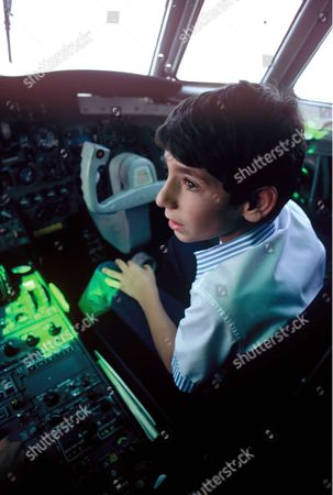 Stock Picture of Prince Ali-Reza Pahlavi learning to pilot a plane
