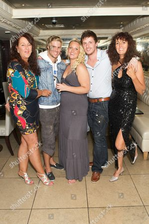 Mandy (Josie's mum), John James Parton, Josie Gibson and her brother and her Aunt Kay
