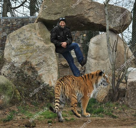 Benjamin Mee with a Tiger