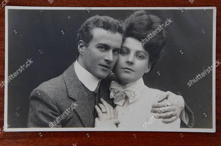 Speech therapist Lionel Logue and his fiancee Myrtle