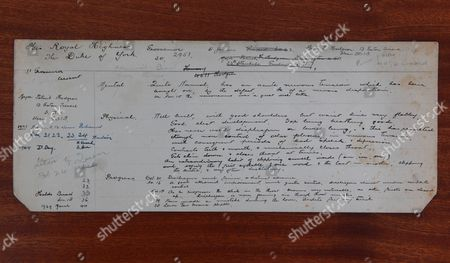 Appointment card showing King George VI's visit to Lionel Logue's Harley Street clinic as shown in film 'The King's Speech'