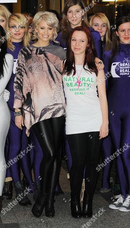 Stock Photo of Kimberly Wyatt and Kaya Cheyanne