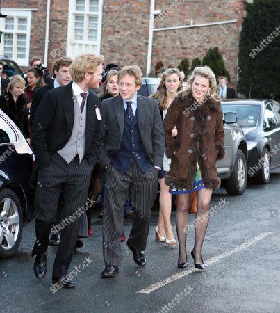 Editorial picture of Wedding of Harry Aubrey-Fletcher and Sarah Louise Stourton, St Andrew's Church, Aldborough, Boroughbridge, Britain - 08 Jan 2011